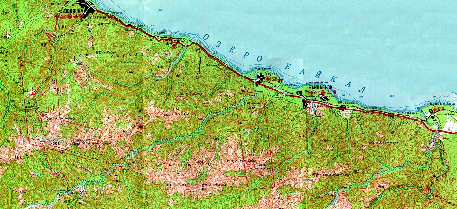 карта - схема реки китой